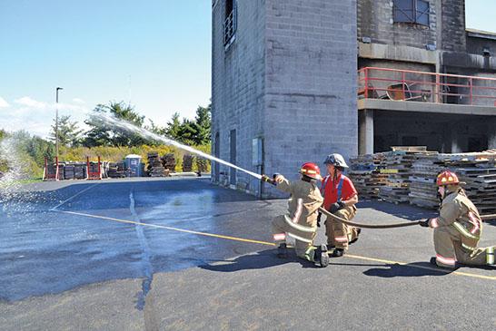Fire hose practice