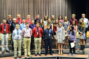Mohawk students inducted intoNational Junior Honor Society