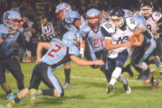Blue Devils start fast in 48-6 rout of Rockets to move back to .500