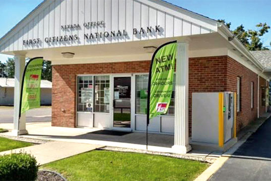 The First Citizens National Bank Nevada branch featured