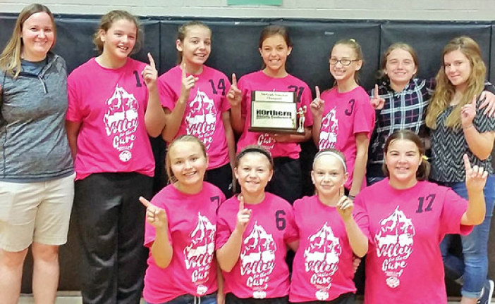 N10 7th grade volleyball champs