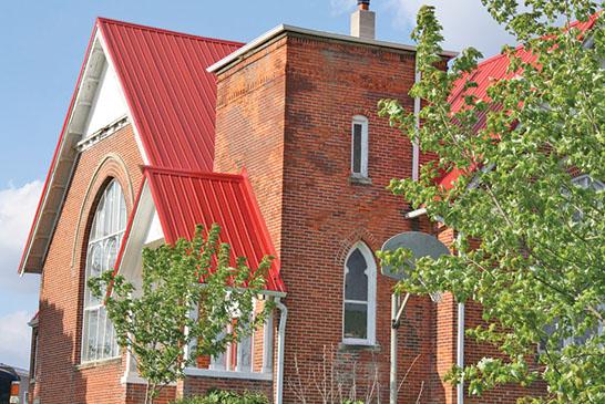 Church on a knoll