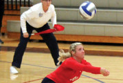 Trusty finishes Malone volleyball career, ranks top 5 in league history in total digs