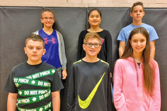Middle school students honored
