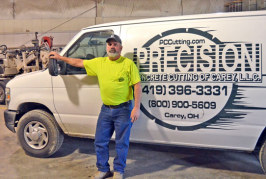 Carey's Precision Concrete Cutting featured as veteran-owned company in Ohio Business Profile