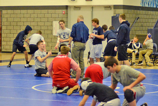 On the mats