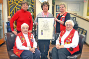 Mohawk Lioness Club, known for doughnuts, gives charter to museum