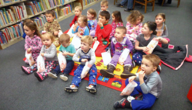Pajama party at the library