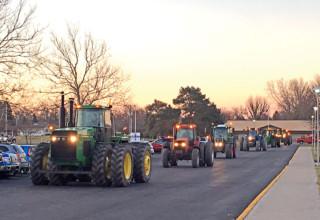 Driving tractors to school