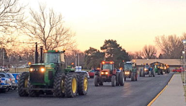 Driving tractors to school