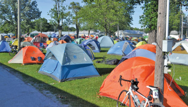 GOBA riders set up camp in Upper