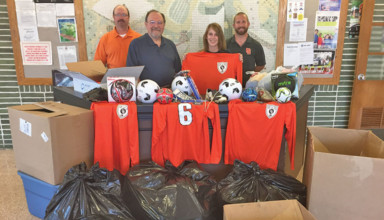 Soccer donation
