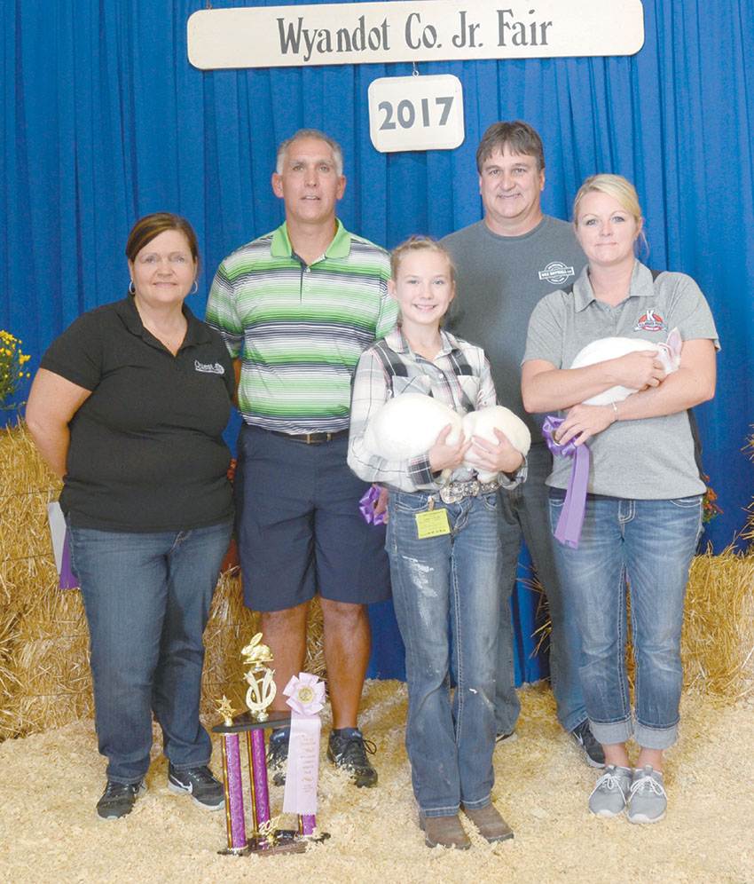 Reserve champion meat pen of rabbits